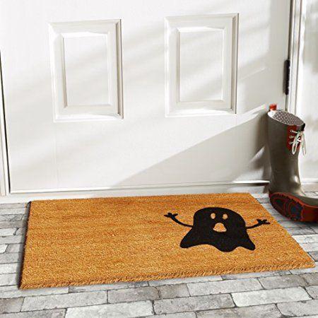 Natural Black Ghost Doormat Porch Mat Fall Doormat Halloween