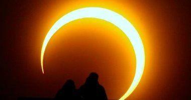 جمعية فلكية كسوف حلقى للشمس يشاهد بالوطن العربى 21 يونيو Novelty Lamp Outdoor Lamp