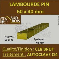 Lambourde 60x40mm Pin Autoclave Marron Classe 4 Menuiserie Lambourde Terrasse Lame Terrasse Et Terrasse