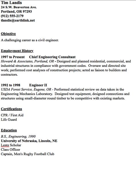 Civil Engineer Resume Sample -    resumesdesign civil - resume civil engineer