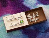 "Anniversary Love Card Matchbox/ Gift box/ Message box/ ""My heart chose you"""
