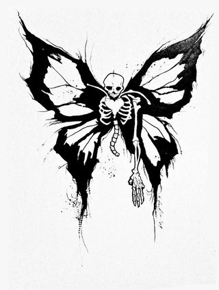 SKA Auctions Gris Grimly Art for the Defense Fund Skull Tattoos, Mini Tattoos, Body Art Tattoos, Skeleton Tattoos, Tatoos, Stomach Tattoos, Raabe Tattoo, Skull Butterfly Tattoo, Butterfly Stencil