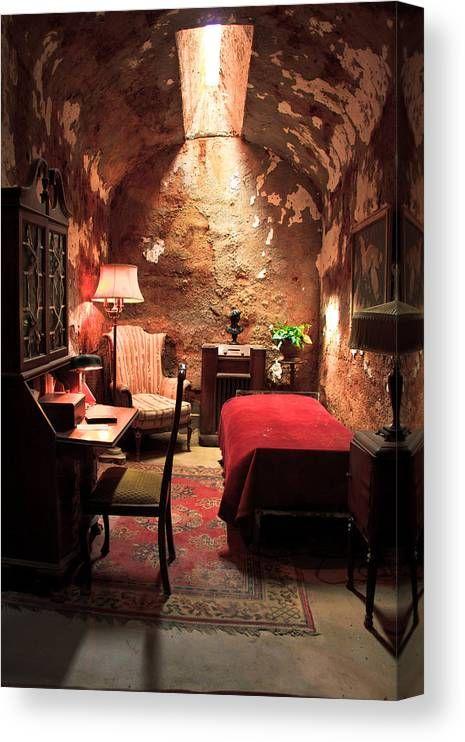 The Prison Cell Of Al Capone Canvas Print Canvas Art By Ellie Teramoto In 2021 Decor Brick Wall Decor Hotel Decor