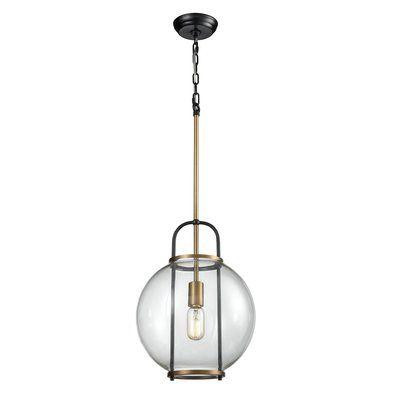 Brayden Studio Vasbinder 1 Light Single Globe Pendant Wayfair In 2020 Globe Pendant Pendant Lighting Glass Bulbs