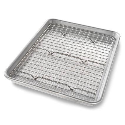 Usa Pan Quarter Sheet Nonstick Pan And Bakeable Nonstick Cooling