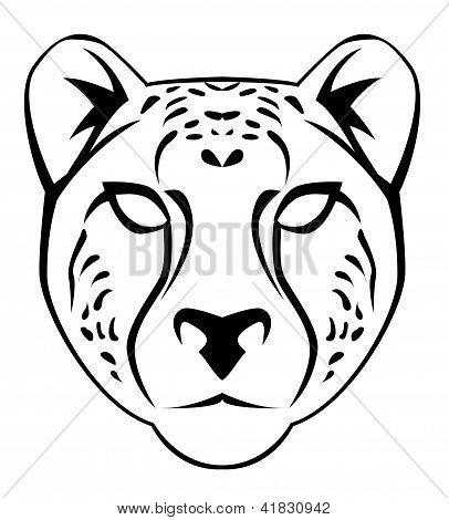 Cheetah Face Eps Editable Vector Illustration Design Poster Id 41830942 Cheetah Face Cheetah Drawing Animal Masks