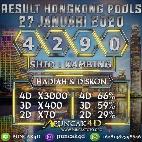 Result Hongkong Pools Senin 27 January 2020 4 2 9 0 Sah Shio