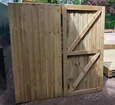 Tanalised pair of driveway gates made to measure available