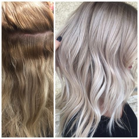 Image Result For Overtone Silver Before And After Silver Hair