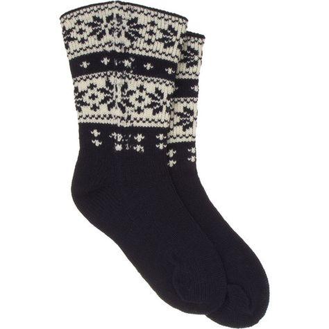 JUNYA WATANABE Man Comme des Garçons Snowflake Fair Isle Sock ...