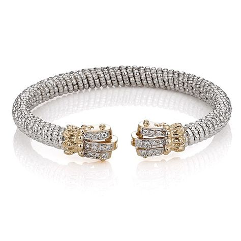 Alwand Vahan Sterling Silver 14k Gold And Diamond Bracelet