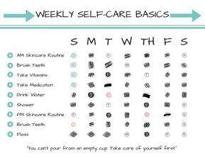 Weekly Self Care Basics Chart Printable Instant Download Self Care Radical Self Love Spooni In 2020 Self Care Self Self Love