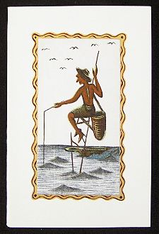 Hand painted greeting cards fishing in sri lanka set http hand painted greeting card stilt fishing in sri lanka m4hsunfo