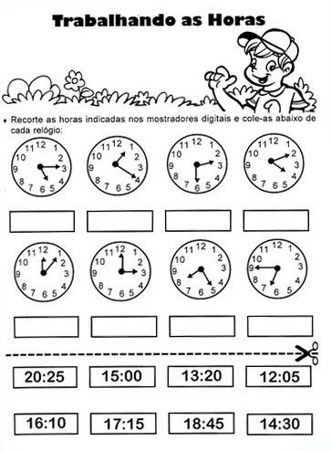 Plano De Aula Que Horas Sao Atividades De Matematica Medidas