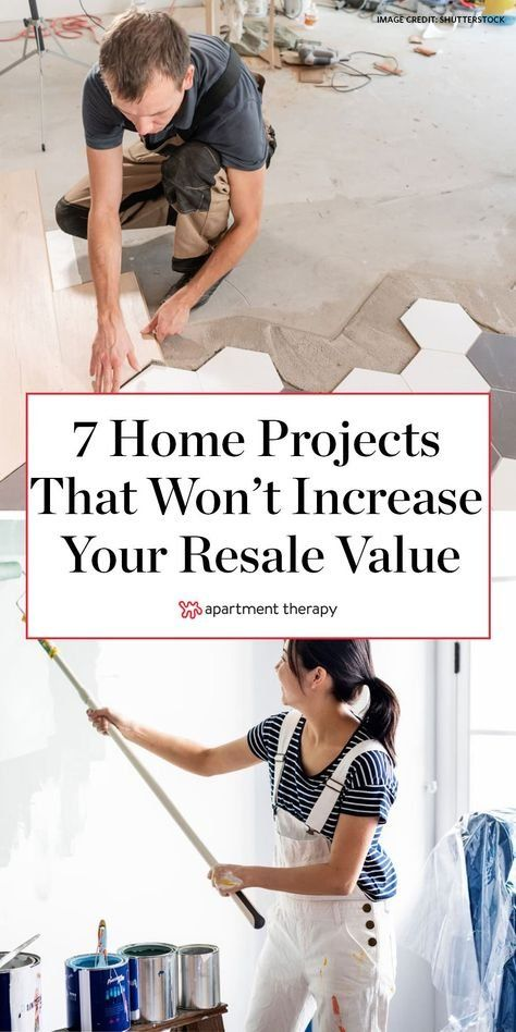 There are plenty of home improvement projects that just aren't worth trying when it comes to increasing your resale value. Here are the projects you'll want to avoid if you'd like a sweet return on your investment. #diy #homerepairs #homeupgrades #homeprojects #resalevalue #homeimprovements #renovating #renovations