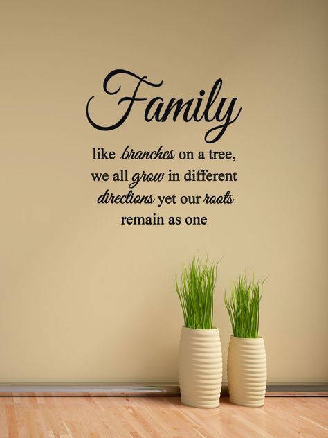 Family like branches on a tree Vinyl Decal - Family Wall Decal Quote, Home Vinyl Decor, Family, Livi