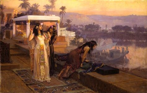 Cleopatra on the terraces of Philae – Frederick Arthur Bridgman (1896)