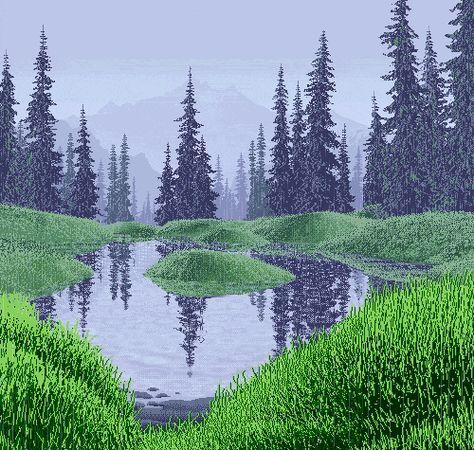 Mirror Pond - Rain by Mark Ferrari