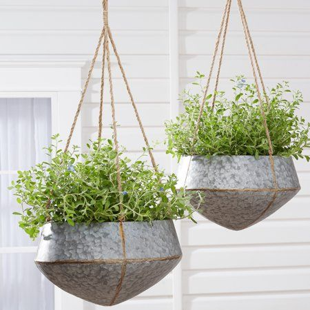 Patio Garden With Images Hanging Planters Indoor Metal Hanging Planters Hanging Planters