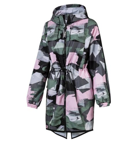 Parka Iron Gate Kapuze Taillierbar Camouflage Frauen Parka Camouflage Kapuze