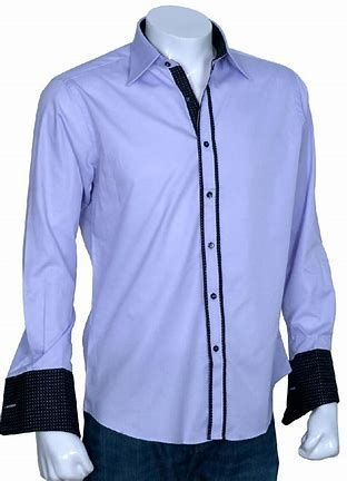 Left placket piping detail Cuff, inner collar stand, and