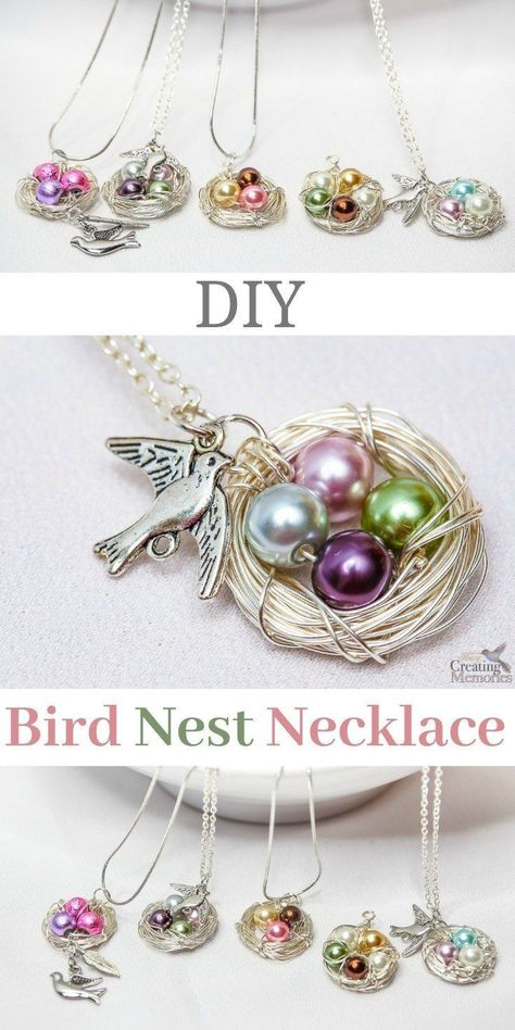 Beautiful Diy Bird Nest Necklace In Under 30 Minutes - Jewelry  Beads  Wire - Beads