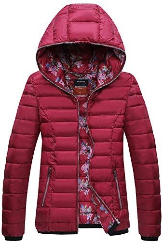 XIONG TAI Womens Packable Puffer Jacket Ultra Lightweight Quilted Coat