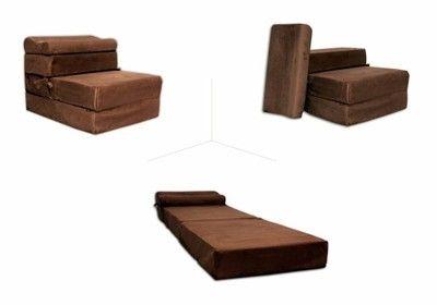 Fotel Rozkładany 15cm Materac Sofa Pufa Kanapa Fotel