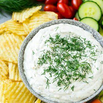 The Best Dill Dip Evar Recipe Dill Dip Recipes Sour Cream Dip Dill Dip