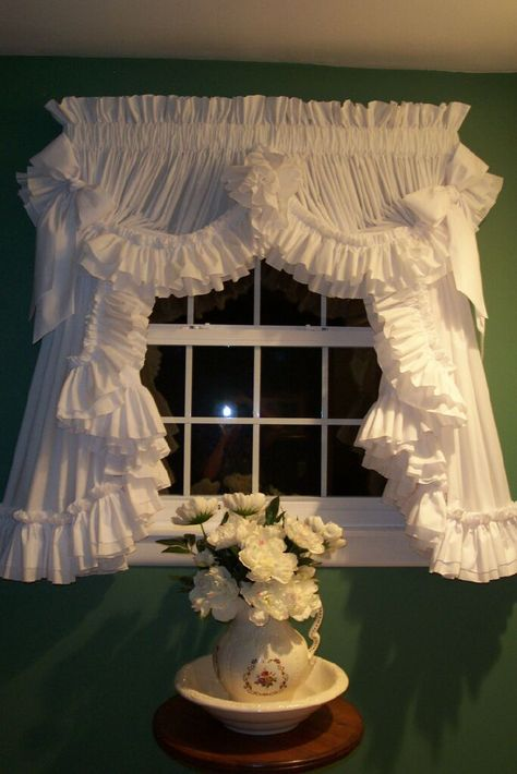 country ruffled curtains...