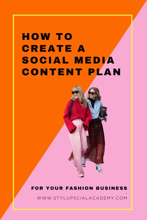 How to create a Social Media Content Plan - Style Up Social Academy