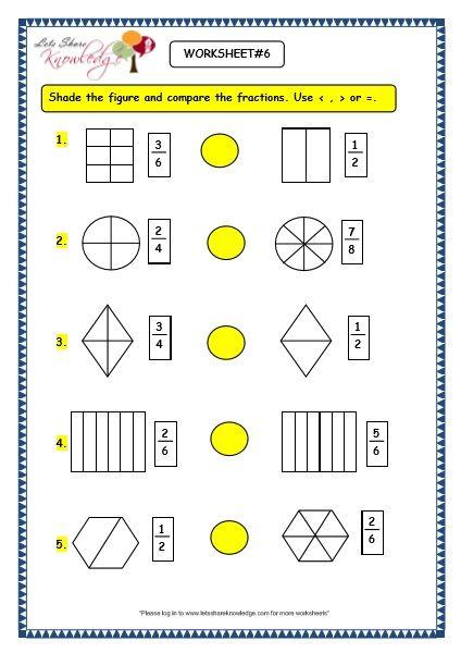 Grade 3 Maths Worksheets 7 3 Bigger And Smaller Fractions 3rd Grade Math Math Worksheet 3rd Grade Math Worksheets