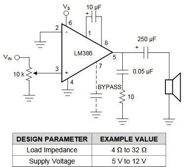 Simple Microphone to Speaker Amplifier Circuit Diagram  Speaker