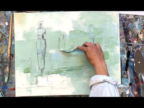 Abstrakte Malerei Acryl Fur Anfanger Spachtel Zeichnung