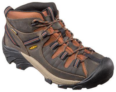 Keen Targhee II Mid Waterproof Hiking Boots for Men - Raven Tortoise Shell  - 10.5 M ab1ef5129720