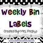 Polka Dot Bin Labels for Sterilite Drawers (FREE)