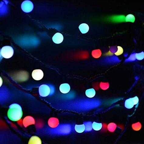 Ledertek Christmas  4ft Rgb Ball Lights Color Change Novelty Globe Fairy String Light For Party Decorations Xmas Tree Wedding Decor Garden