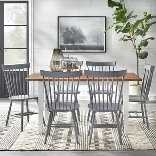 Overstock Com Online Shopping Bedding Furniture Electronics Jewelry Clothing More Farmhouse Dining Set Farmhouse Dining 7 Piece Dining Set