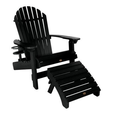 Highwood King Hamilton Black 3 Piece Recycled Plastic Outdoor