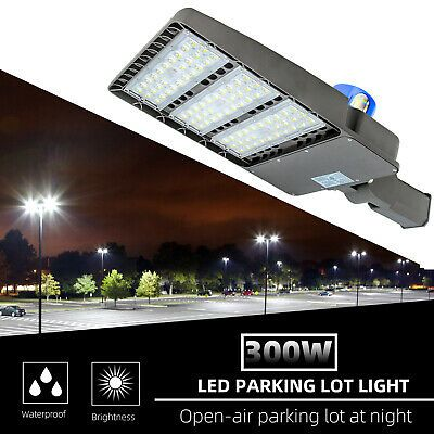Sponsored Ebay 36000lm Outdoor 300w Led Street Light Dusk To Dawn Commercial Ip68 Shoeb In 2020 Led Parking Lot Lights Commercial Outdoor Lighting Led Street Lights