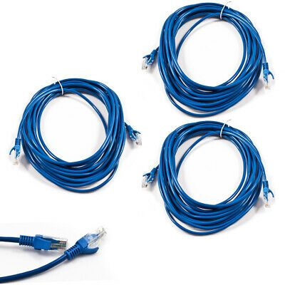 RJ45 Cat5e CAT5 Ethernet LAN Network Cable for PC PS XBox Internet Router Blue