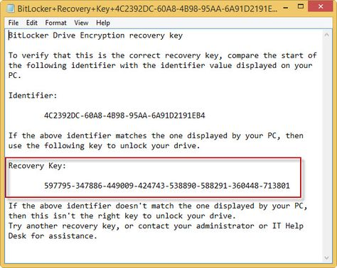M3 Bitlocker Recovery Serial Key