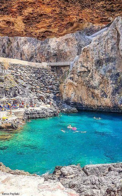 Calypso Beach Plakias Crete Island Greece Travel