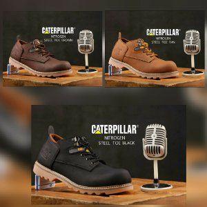 Sepatu Boots Caterpillar Nitrogen Steel Sepatu Boots Pria Sepatu
