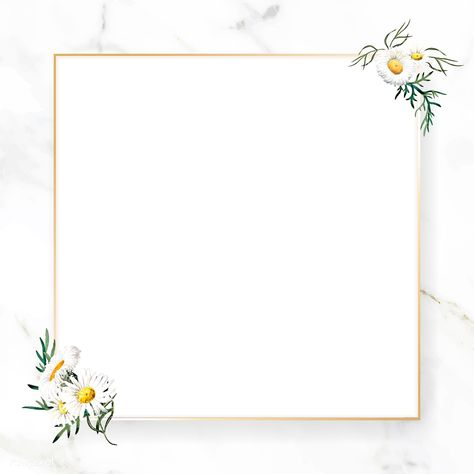 Blank floral square frame vector | premium image by rawpixel.com / nunny #picture #photography #inspiration #photo #art #frame #flower