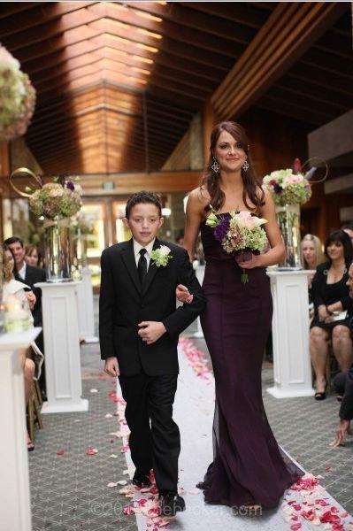 Eggplant Jim Hjelm dresses : wedding Jana Aisle | Our wedding ...