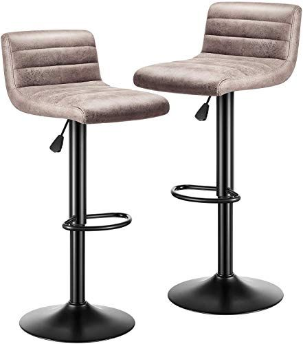 Enjoy Exclusive For Kealive Bar Stools Set 2 Modern Adjustable Bar