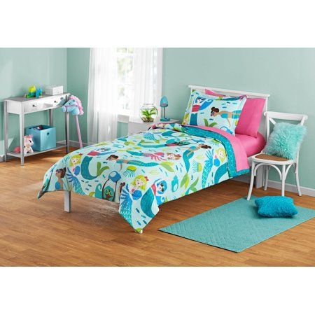 Home With Images Kids Bedding Sets Mermaid Bedding Bed In A Bag