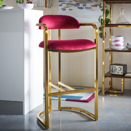 Superb Modrn Glam Marni Metal Base Bar Stool Multiple Colors Unemploymentrelief Wooden Chair Designs For Living Room Unemploymentrelieforg