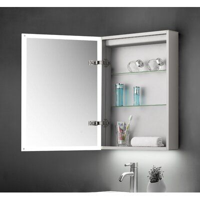 Belfry Bathroom Critchlow 50cm X 70cm Wall Mounted Mirror Cabinet With Led Lighting Wayfair Co Uk In 2020 Mirror Cabinets Wall Mounted Mirror Bathroom Shower Design